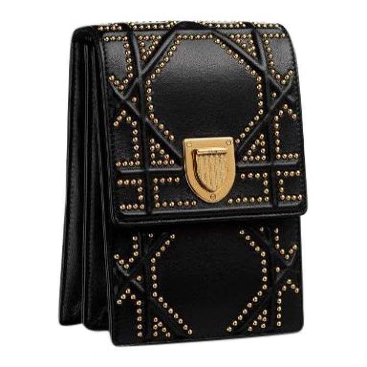 b02f8893a4 Diorama leather crossbody bag | Arm candies | Black leather handbags ...