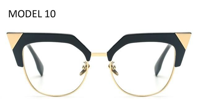 c321d2a866f Peekaboo 2017 sexy black cat eye clear lens glasses fashion new brand  designer eyewear optical frame woman female with box