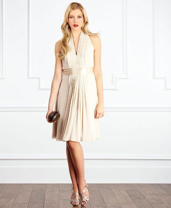 Cream winter wedding bridesmaid dress.   Winter Wedding   Pinterest