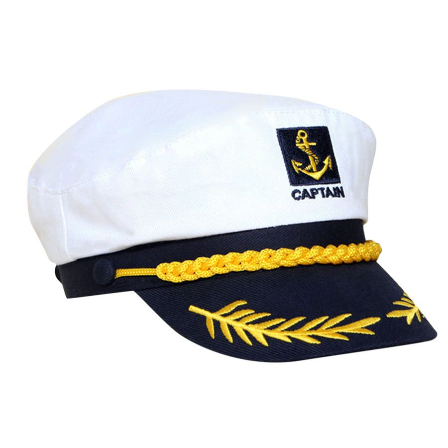 Unisex Navy Sailor Hats White Cap Yacht Boating Captain Ship Cosplay Costume