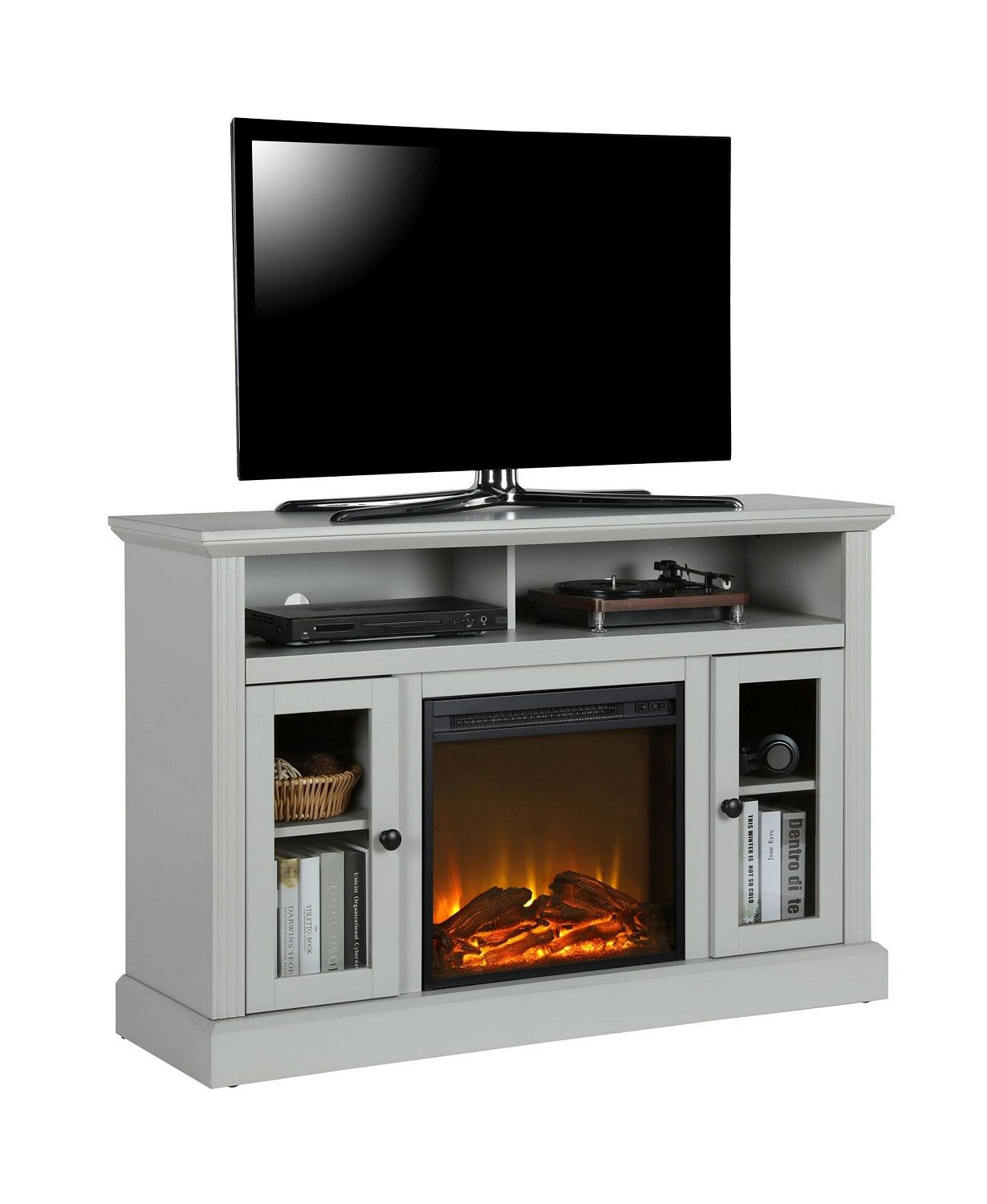 Ameriwood home electric fireplace tv console for
