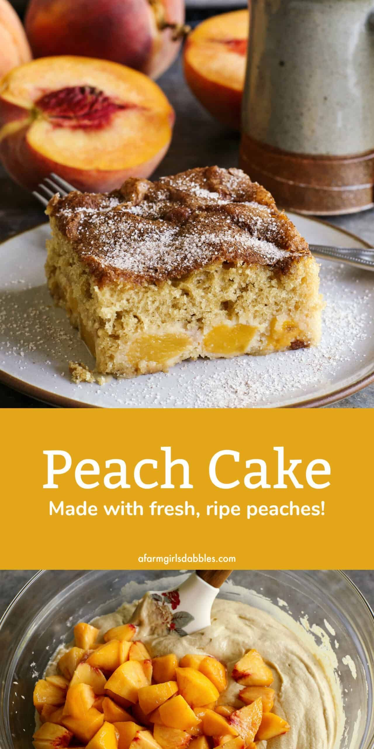 Jessica Peaches 2020 Christmas This Easy Homemade Cake Is Made With Delicious Fresh Peaches