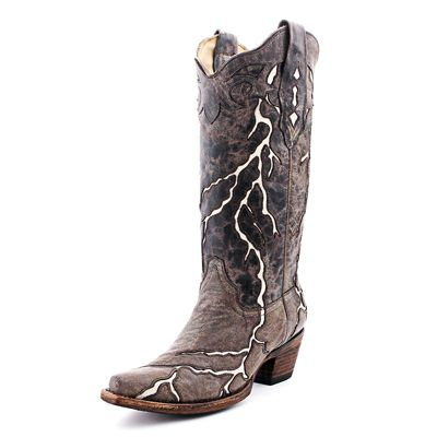 Corral Brown Lightning Cowboy Boots 