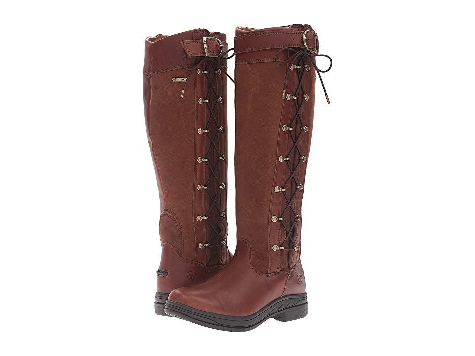 Ariat Grasmere Pro Gtx Wide Calf Briar Cowboy Boots The Ariat Grasmere Pro Gtx Wide Calf Boot Lets You Get The Mos With Images Boots Wide Calf Boots Brown Flat Boots