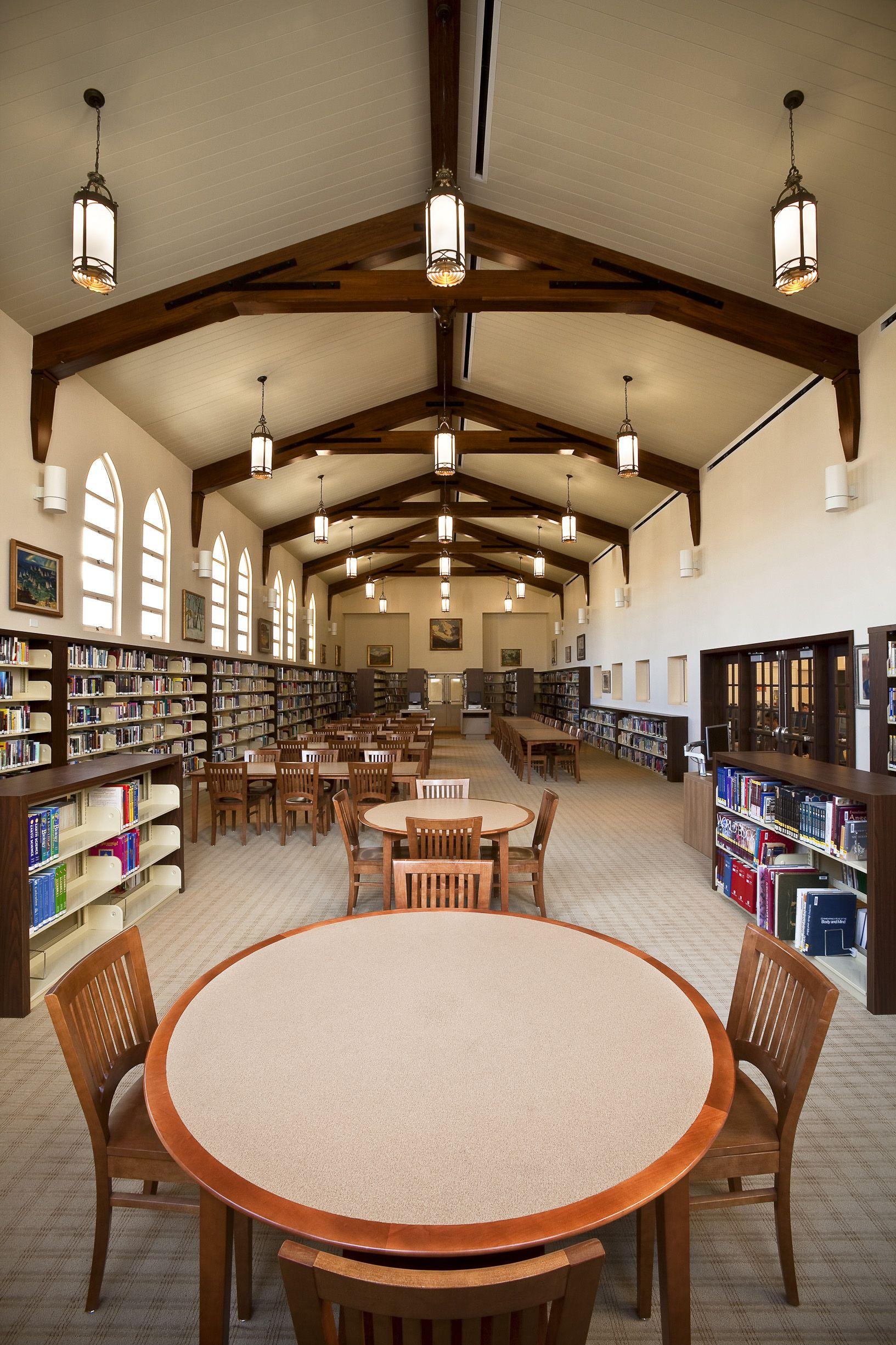 A Peek Inside The Library At Newport Harbor High School