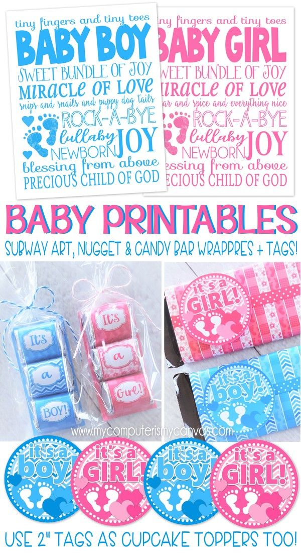 Printables For Baby Nuggets Candy Bar Subway Baby Boy