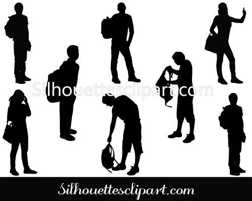 Student Silhouette Vector Download Silhouettes Vector Silhouette Vector Silhouette Vector Graphics