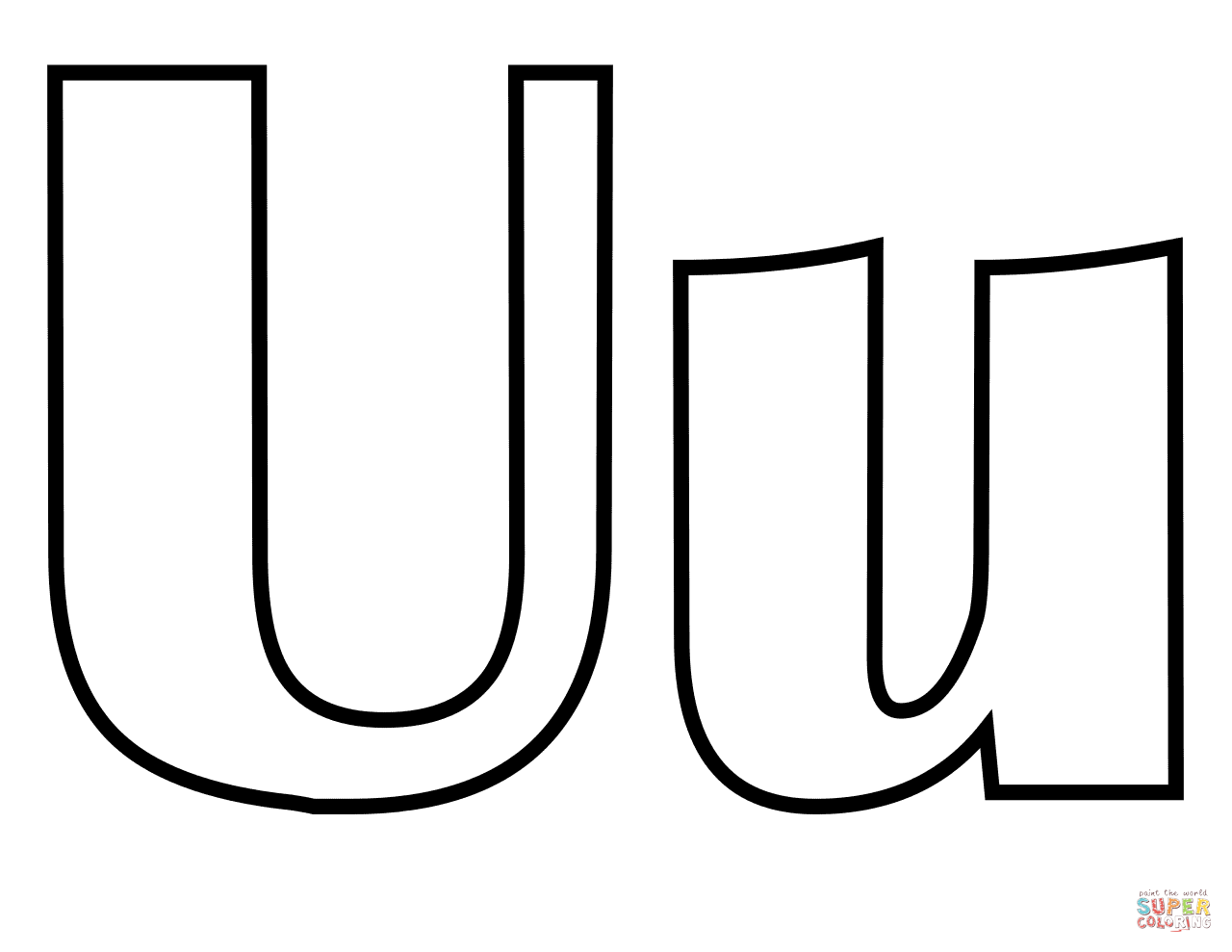 Classic Letter U Coloring Page Free Printable Coloring Pages Lettering Coloring Pages Printable Coloring Pages