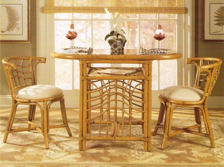 Cane Wicker Honeymoon Dining Set Cane Furniture Americanrattan Com Cane Furniture Nook Dining Set Rattan Table