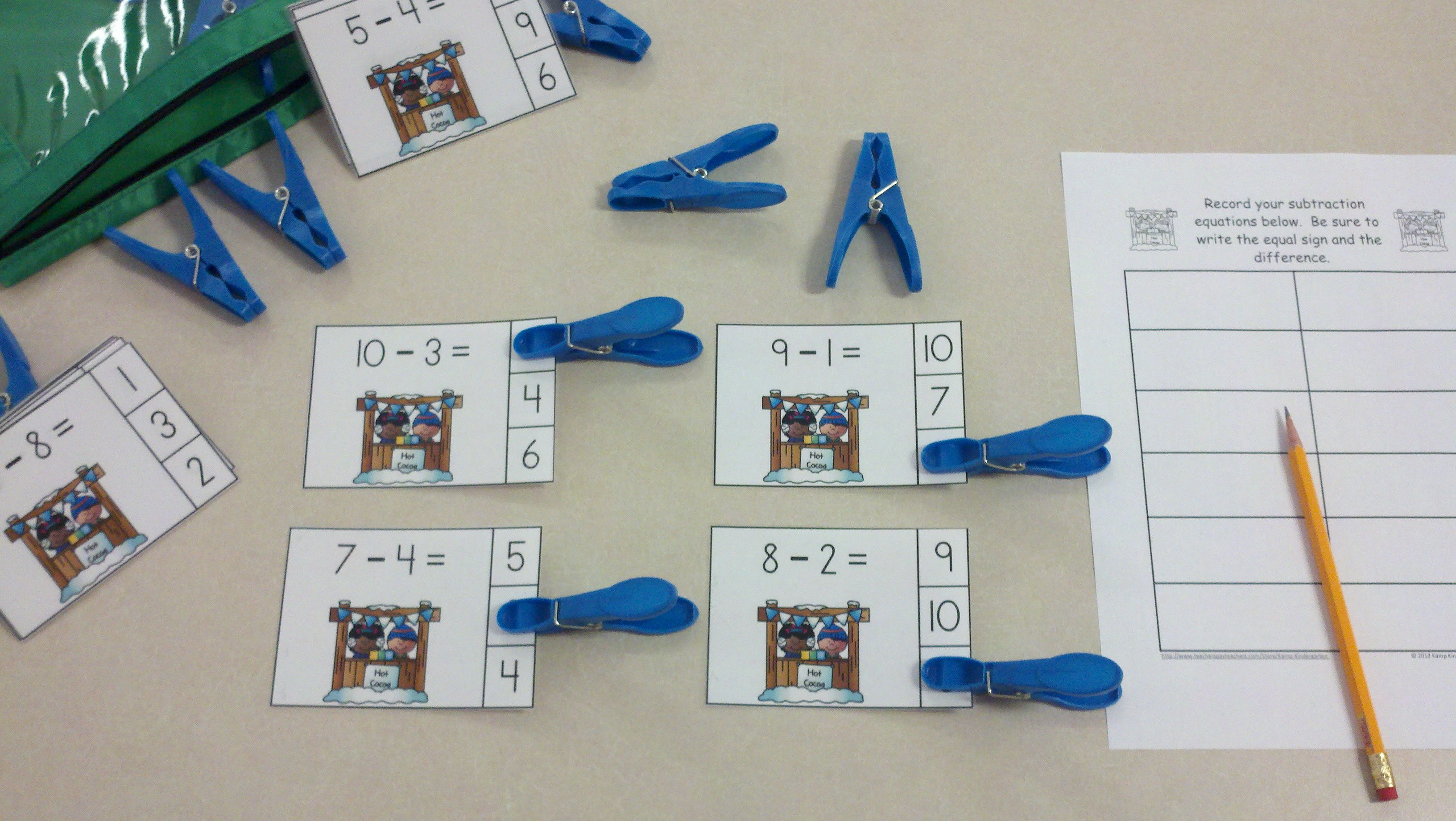 Snow Day Fun Winter Subtraction Math Centers Minuends To