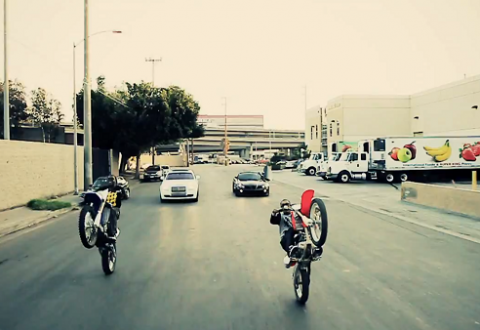 Meek Mill Lil Chino Bike Life Miami Bike Stunts