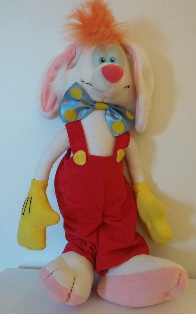 Talking Roger Rabbit Plush Stuffed Animal Doll Pull String 18