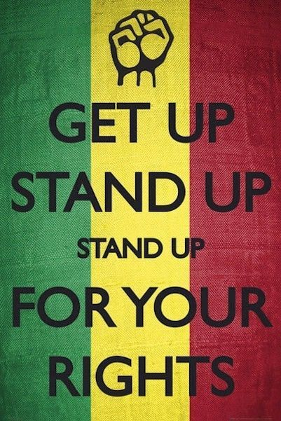 Get Up Stand Up For Your Rights 24x36 Poster Protest History Fist Bob Marley Bob Marley Lyrics Bob Marley Bob Marley Art