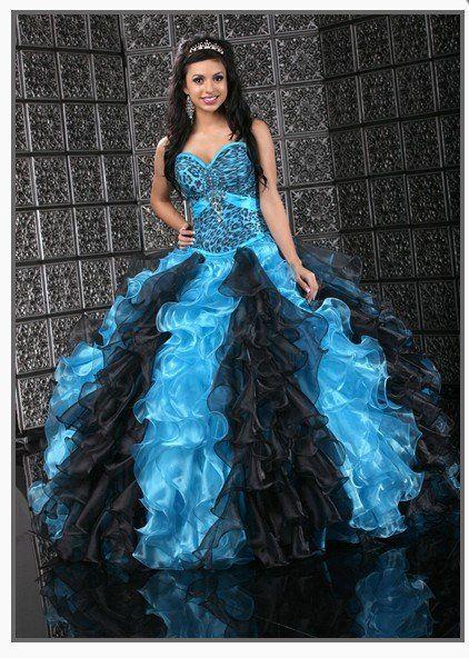 Aqua colored quince dresses quinceanera