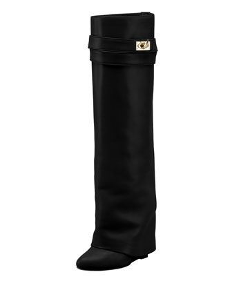 Shark Lock Fold-Over Boot by Givenchy at Bergdorf Goodman.