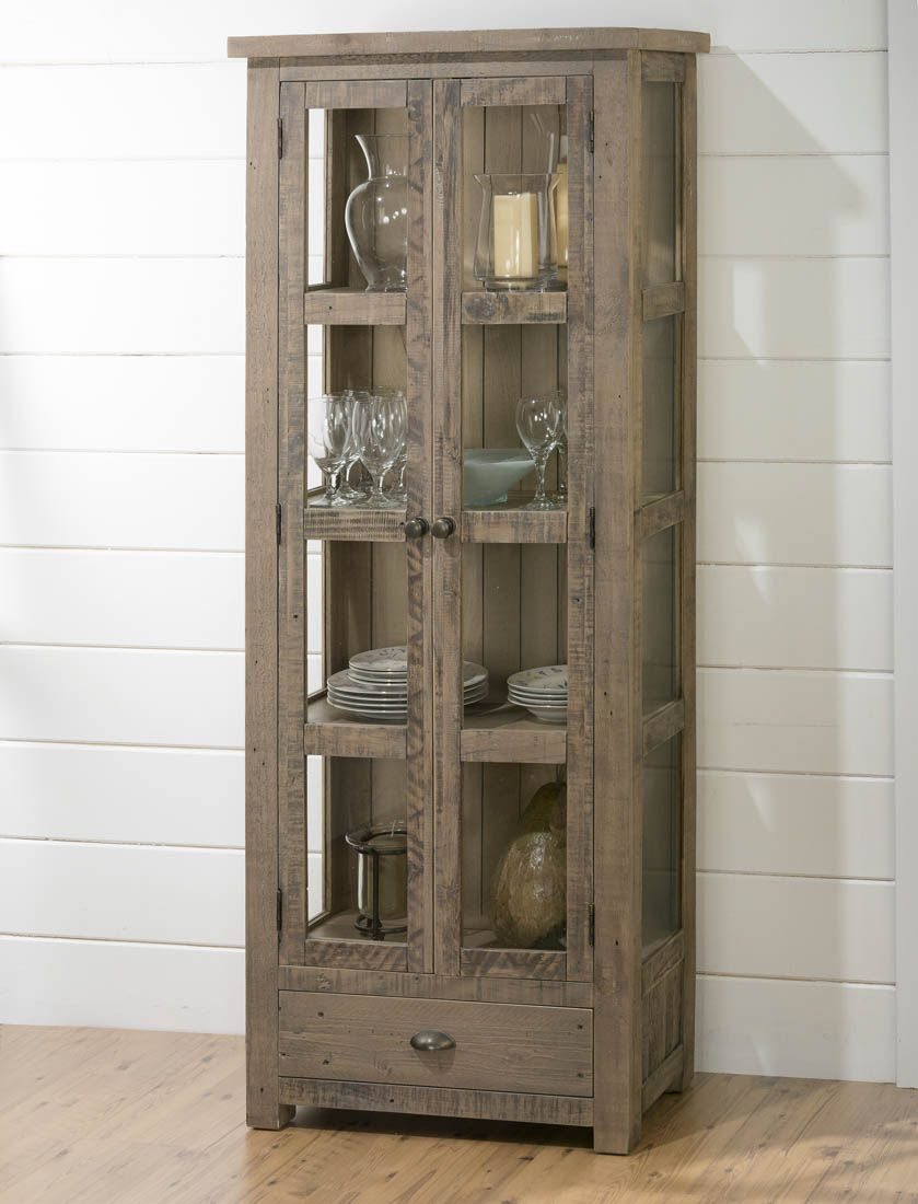 Slater Mill Pine Tall Display Cupboard  94191  Decor South Delectable Dining Room Cupboard Review