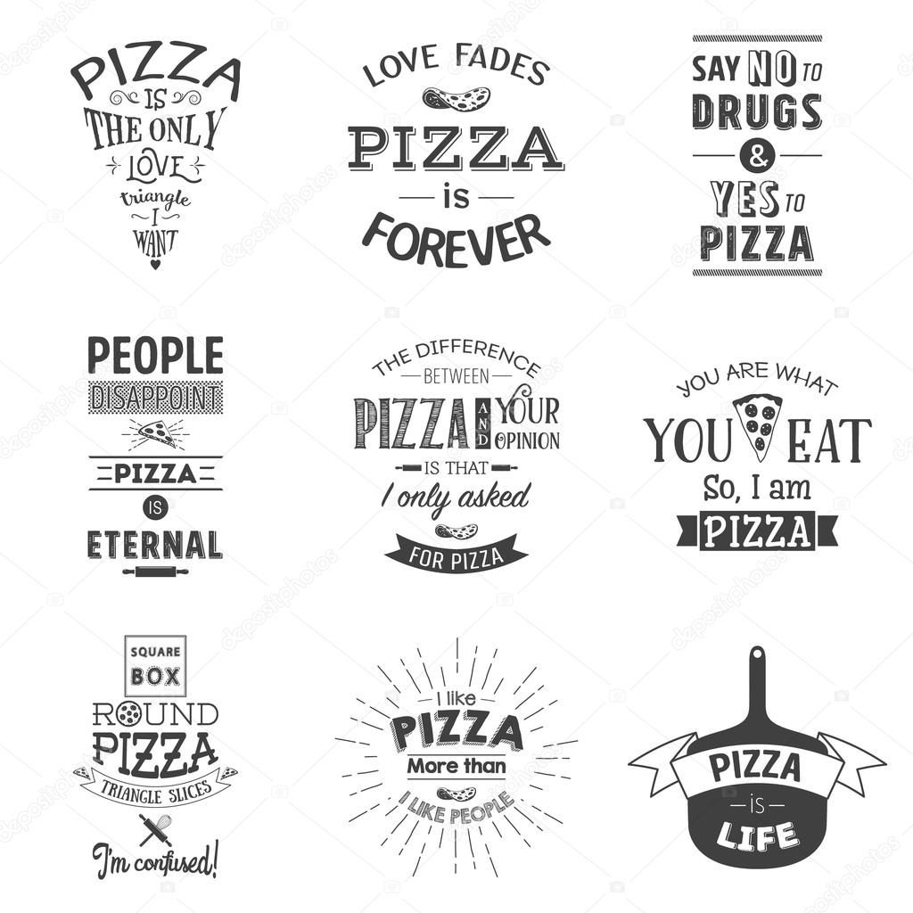 Pizza Quote Vintage Typographic Pizza Quotes Pizza Quotes Funny Pizza Funny