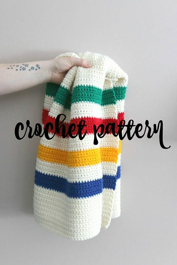 Hudson Bay Blanket Pattern // Crochet Baby Blanket Pattern // Easy ...