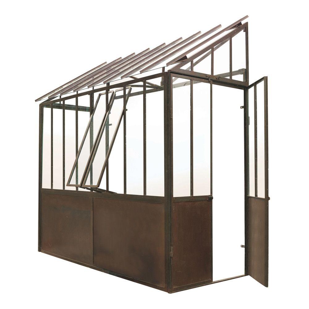 anlehngew chshaus aus metall mit rosteffekt h 245 cm tuileries garten spielger te garten. Black Bedroom Furniture Sets. Home Design Ideas