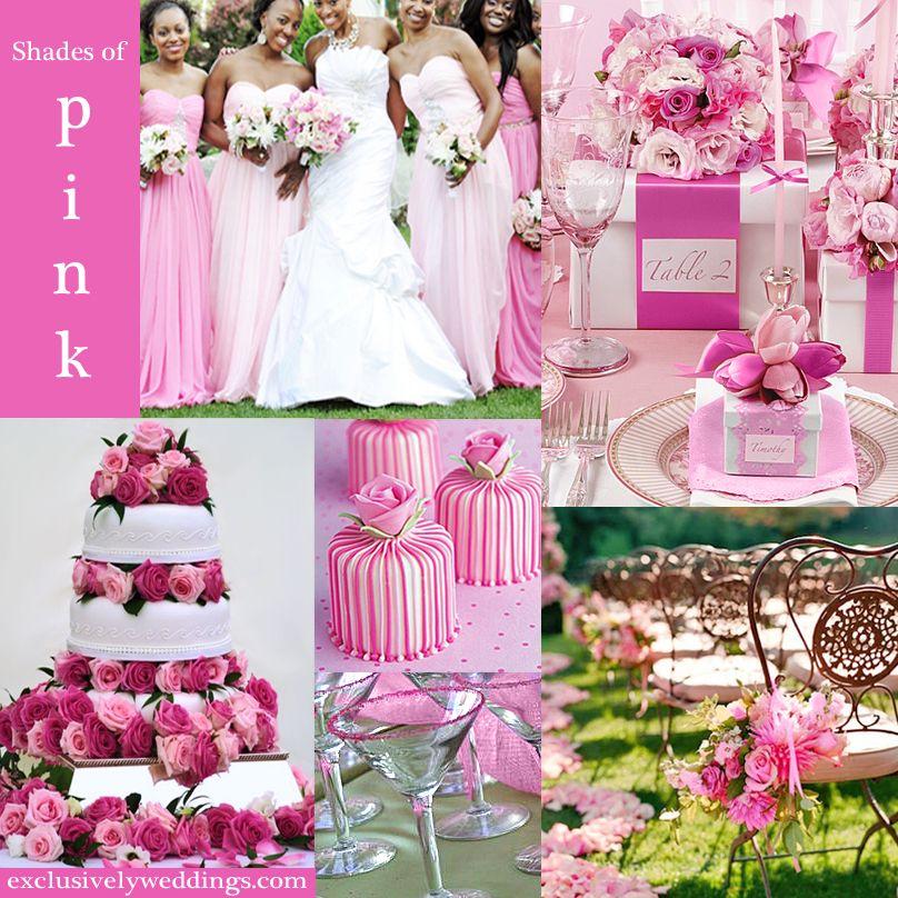 Pink Wedding Color Twelve Perfect Combinations Exclusively Weddings Pink Wedding Theme Pink Wedding Colors Wedding Colors