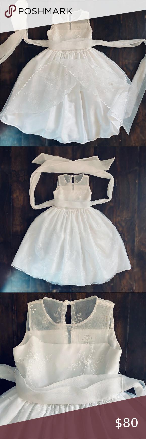 Us Angels White Dress Nwot Sleeveless Size 4t White Occasion Dresses Dresses Kids Dresses [ 1740 x 580 Pixel ]