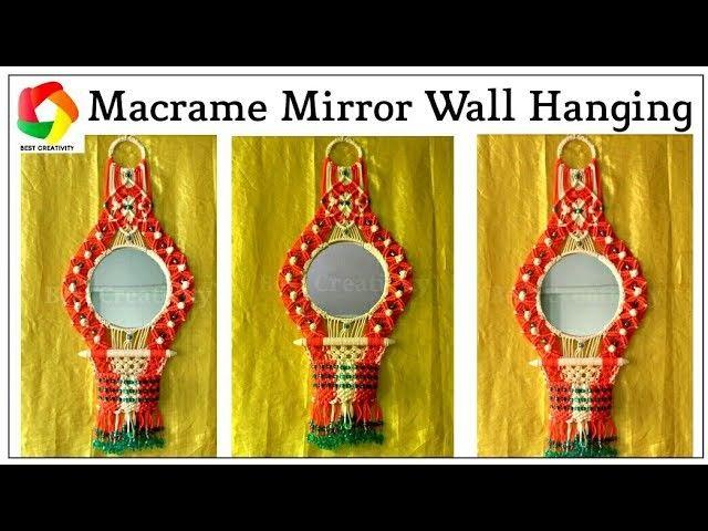 How to make Macrame Wall Hanging | Wall hanging crafts, Macrame wall ...