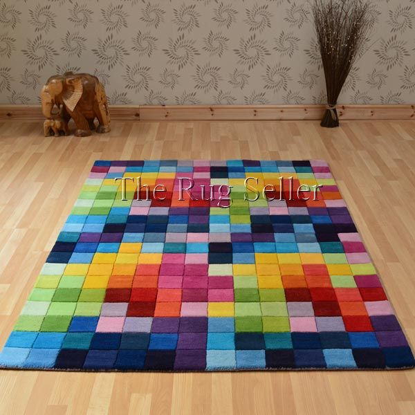 Funk Rugs Multi Coloured Pure Wool Tell Me Please Where I Can