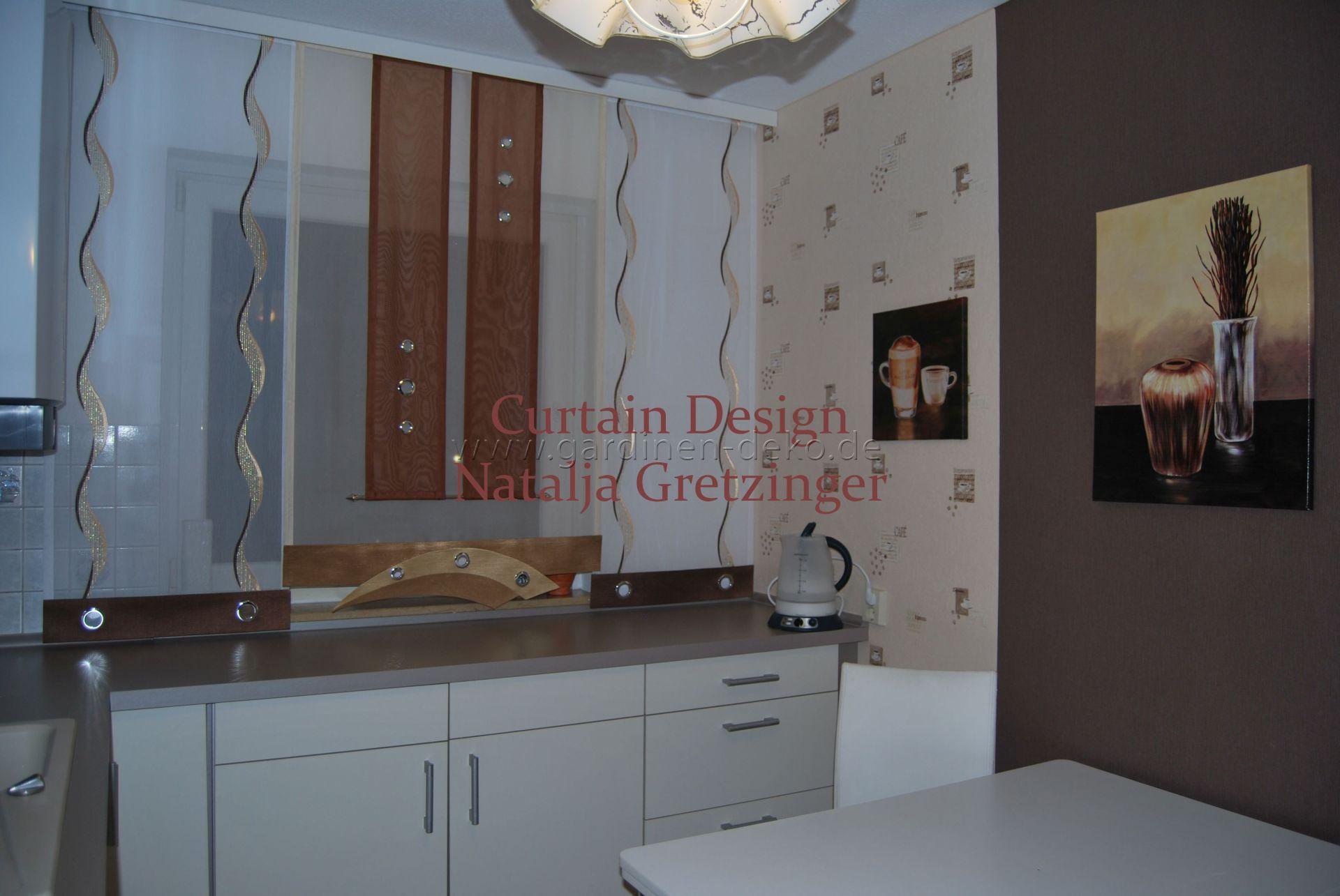 Schiebe Gardine im modernen Design für die Küche - http://www ...