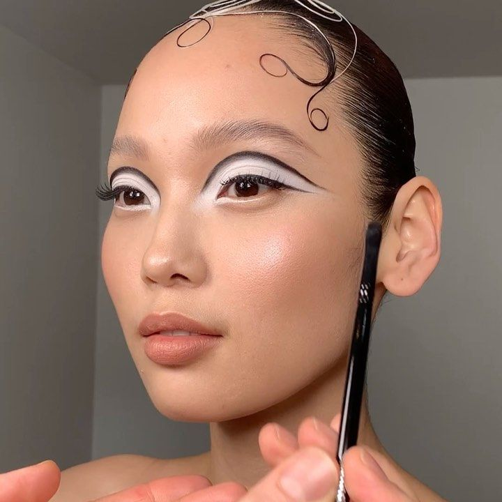 """James Molloy Makeup Artist on Instagram: """"Modern MOD – 60's inspired makeup with the beautiful @ariunzuloyunbaatar  #BTS using @mykitco Signature Synthetics SS9 Brush (only…"""""""