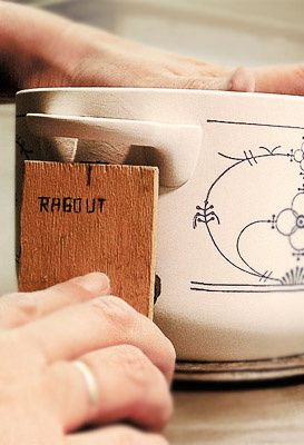 Handstempeln, Herstellung, Kahla Porzellan