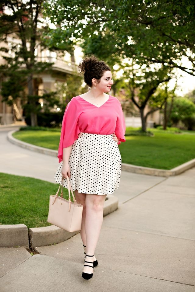 Can you ever go wrong with pink and polka dots!?