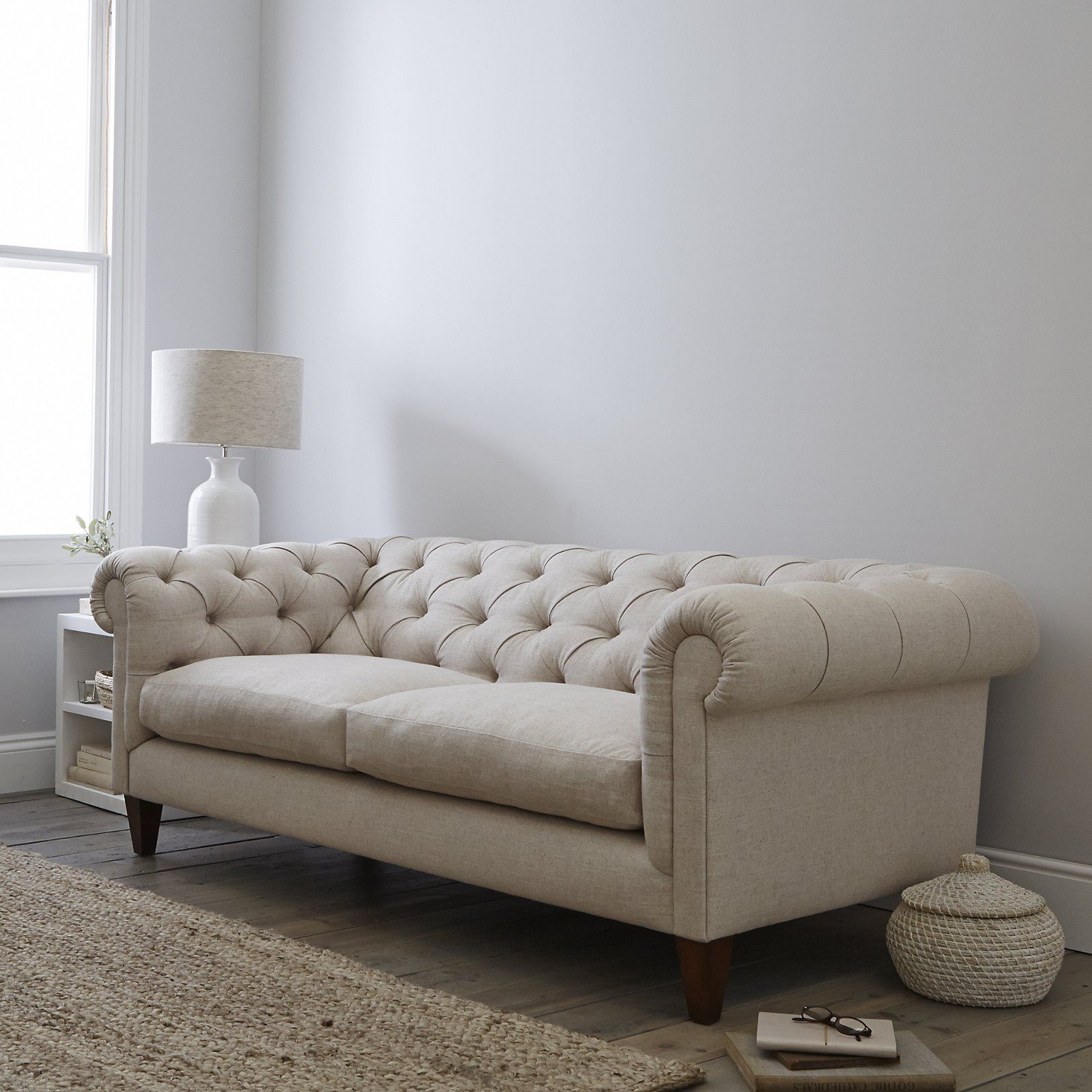 Hampstead Linen Union Sofa Sofas Armchairs The White Company