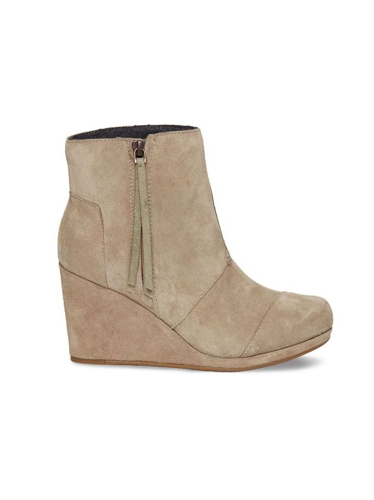b92fb4f753b If only walking through a sand dune could look this chic. TOMS Taupe Suede  Women s Desert Wedge Highs is the ultimate ankle boot.
