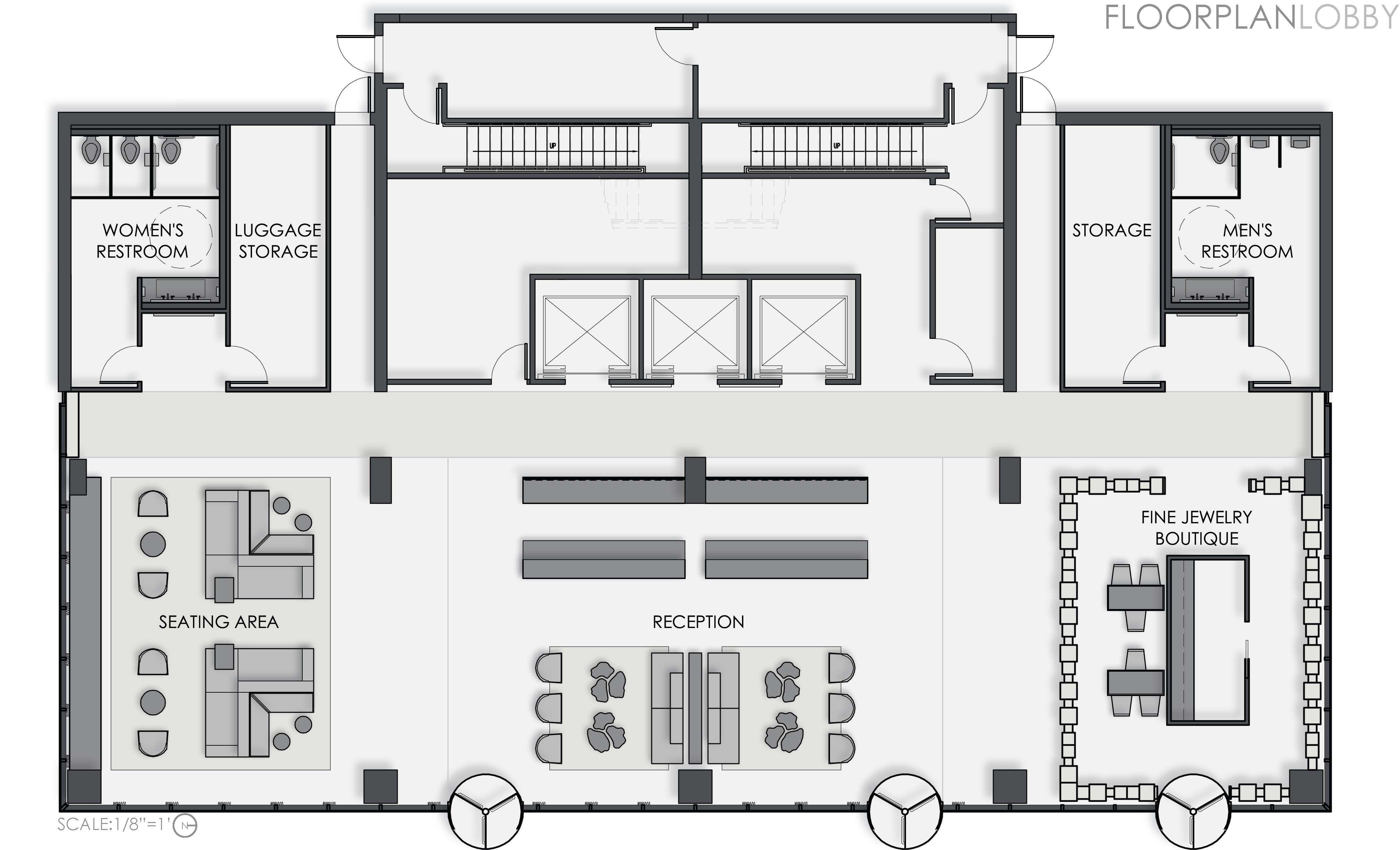 Ensuite badezimmerdesignpläne boutique hotel lobby floor plan  google search  hotel plan