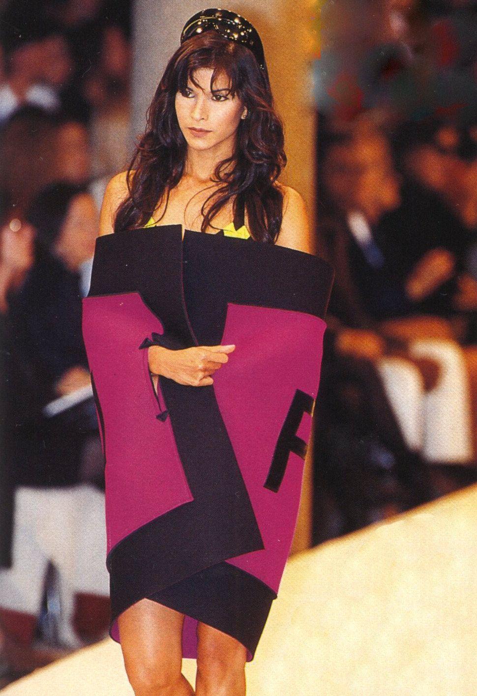 1996 Fendi Furs Fashion Magazine Print Ad: Fendi 1990-2000 In 2019