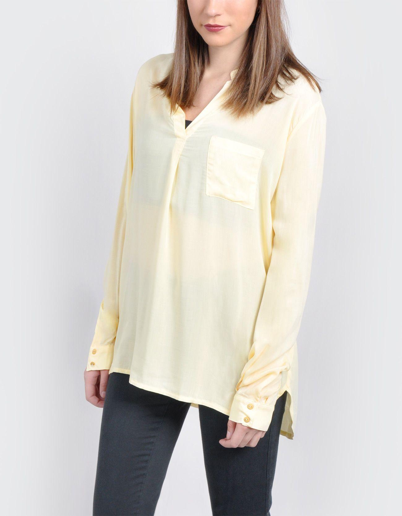 Blusa cuello mao bolsillo : CHICA Blusas & Camisas