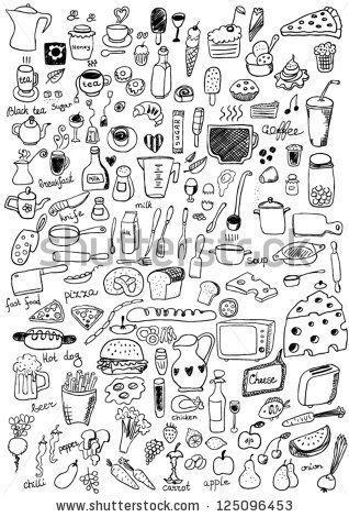 Food Icons Cuadernos De Bocetos Bullet Journal Doodles Dibujos