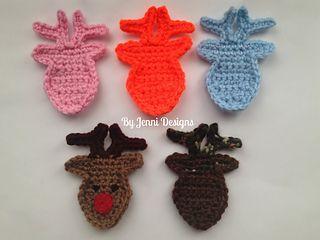 Ravelry: Deer Head Applique pattern by Jenni Catavu