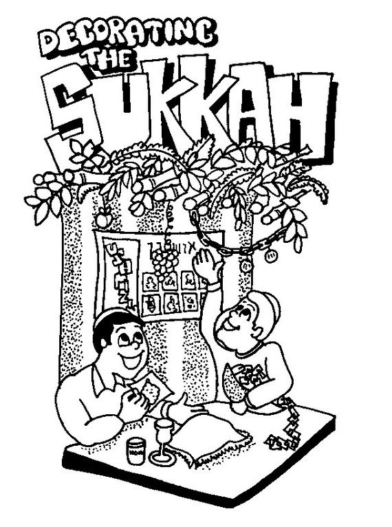 Sukkot coloring pages for Kids Holidays