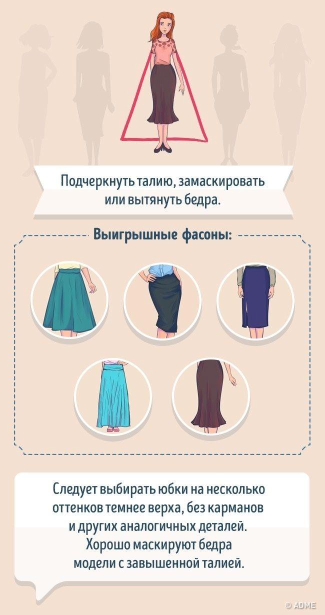 Как выбрать идеальную юбку по типу фигуры выкройки pinterest