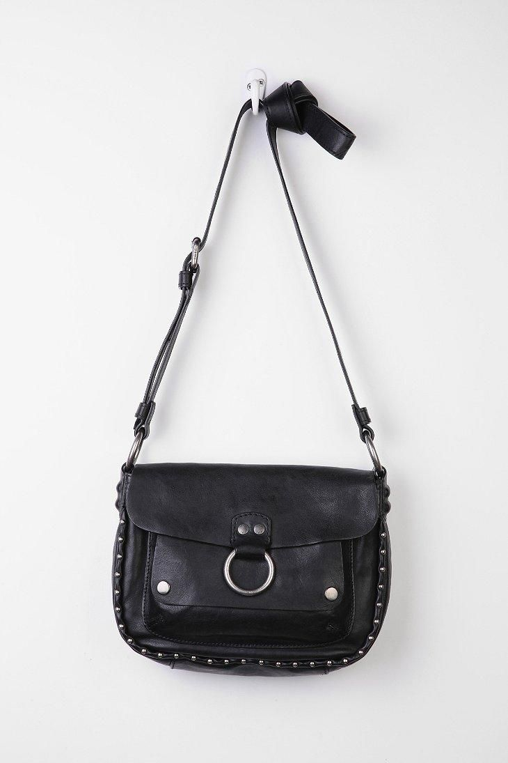 b129cc2dc35a Frye Roxanne Studded Leather Saddle Bag  urbanoutfitters
