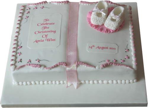 Frosted Christening Cake Ideas