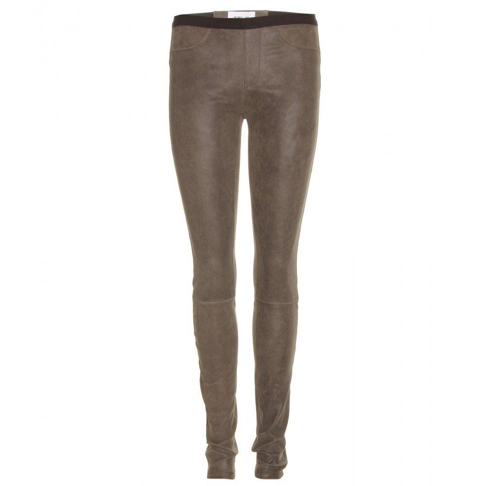 mytheresa.com - Helmut Lang - PATINA STRETCH LEATHER LEGGINGS - Luxury  Fashion for Women