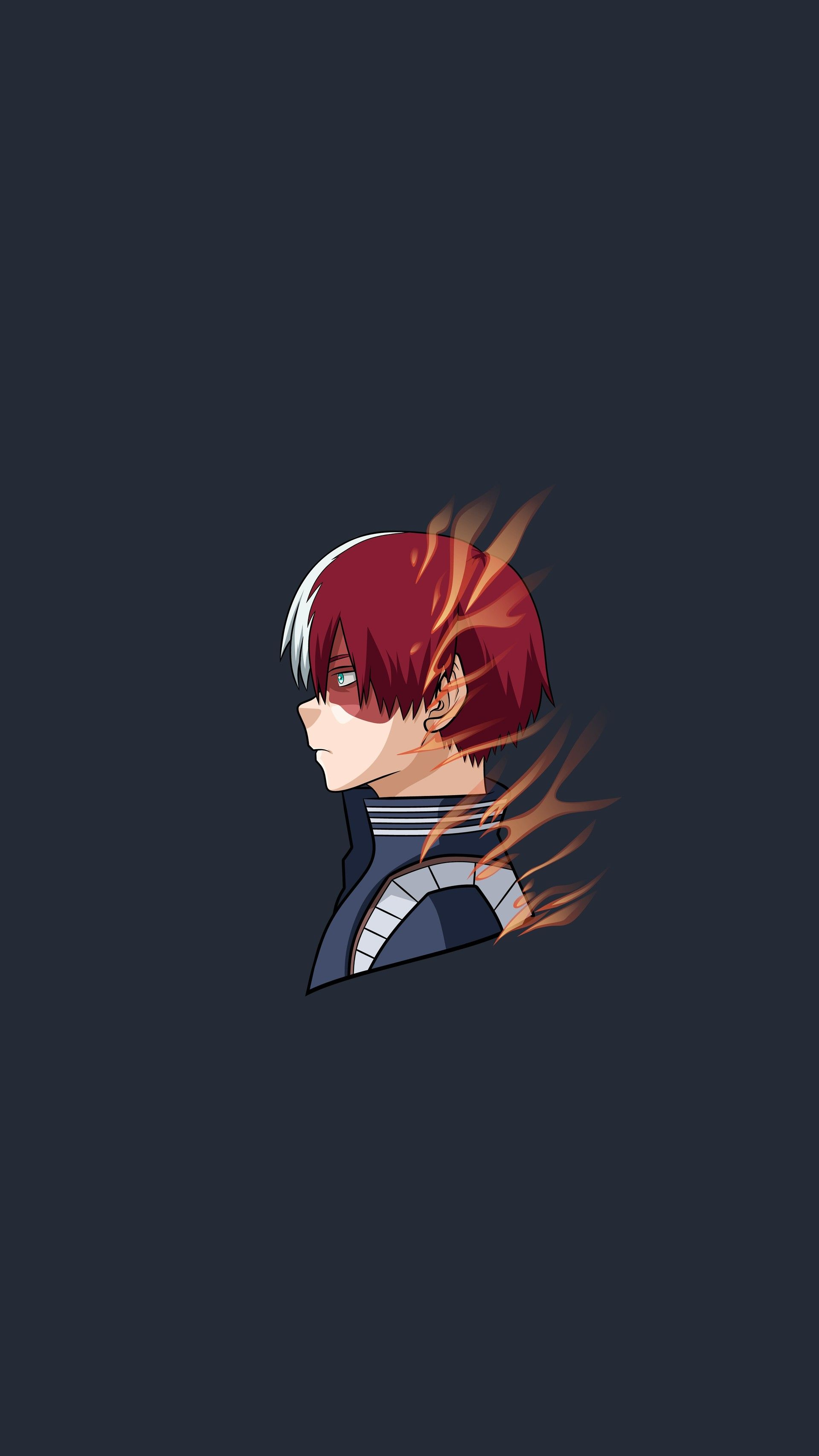 Artstation Todoroki Shoto Popheadshot Still Alive Artworks Hero Wallpaper Anime Wallpaper Cute Anime Wallpaper