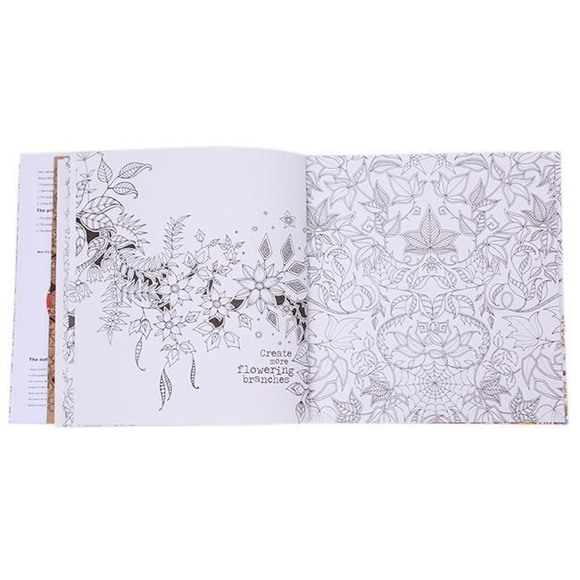 Novelty 20 Pages English Secret Garden Coloring Book For Choldren Kids Gifts Q