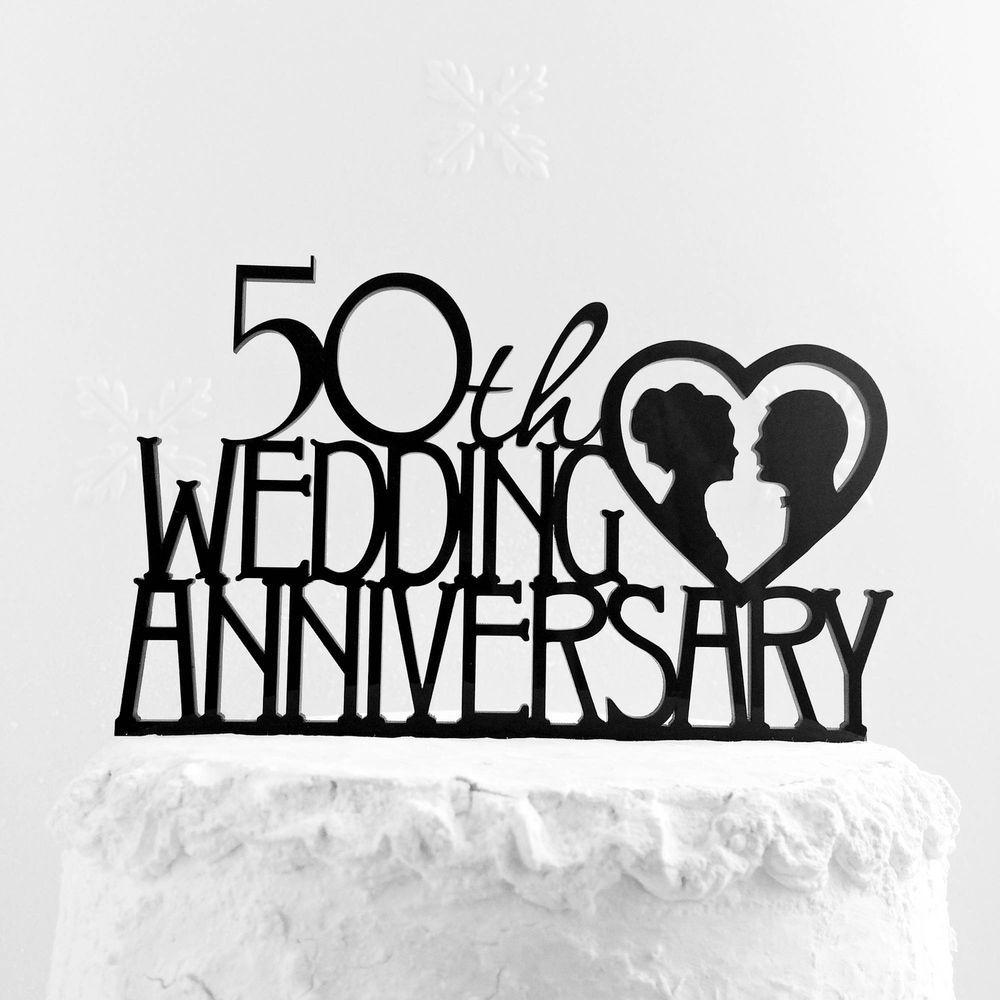 50th wedding anniversary cake topper golden anniversary