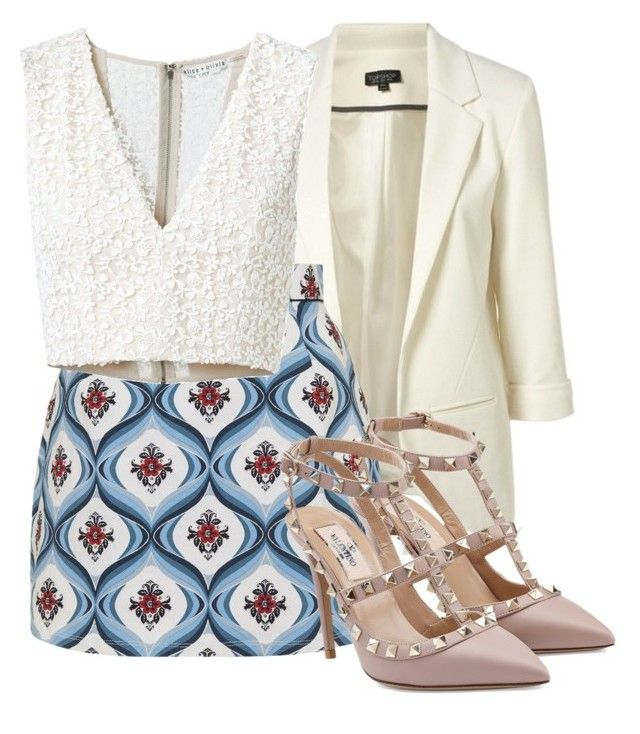 """""""#363"""" by fabialmonacid ❤ liked on Polyvore featuring Topshop, Alice + Olivia and Valentino"""