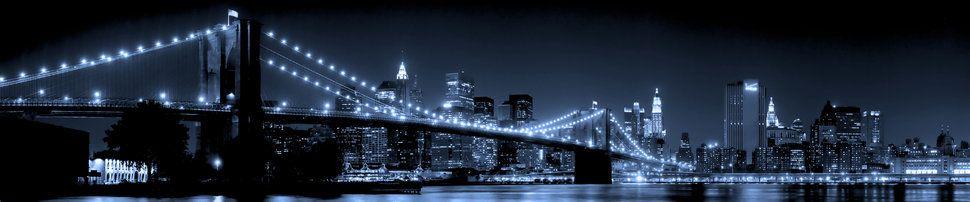 New york, le pont de brooklyn, ville, ville, veilleuses, eau, gratte-ciels Wallpaper - ForWallpaper.com