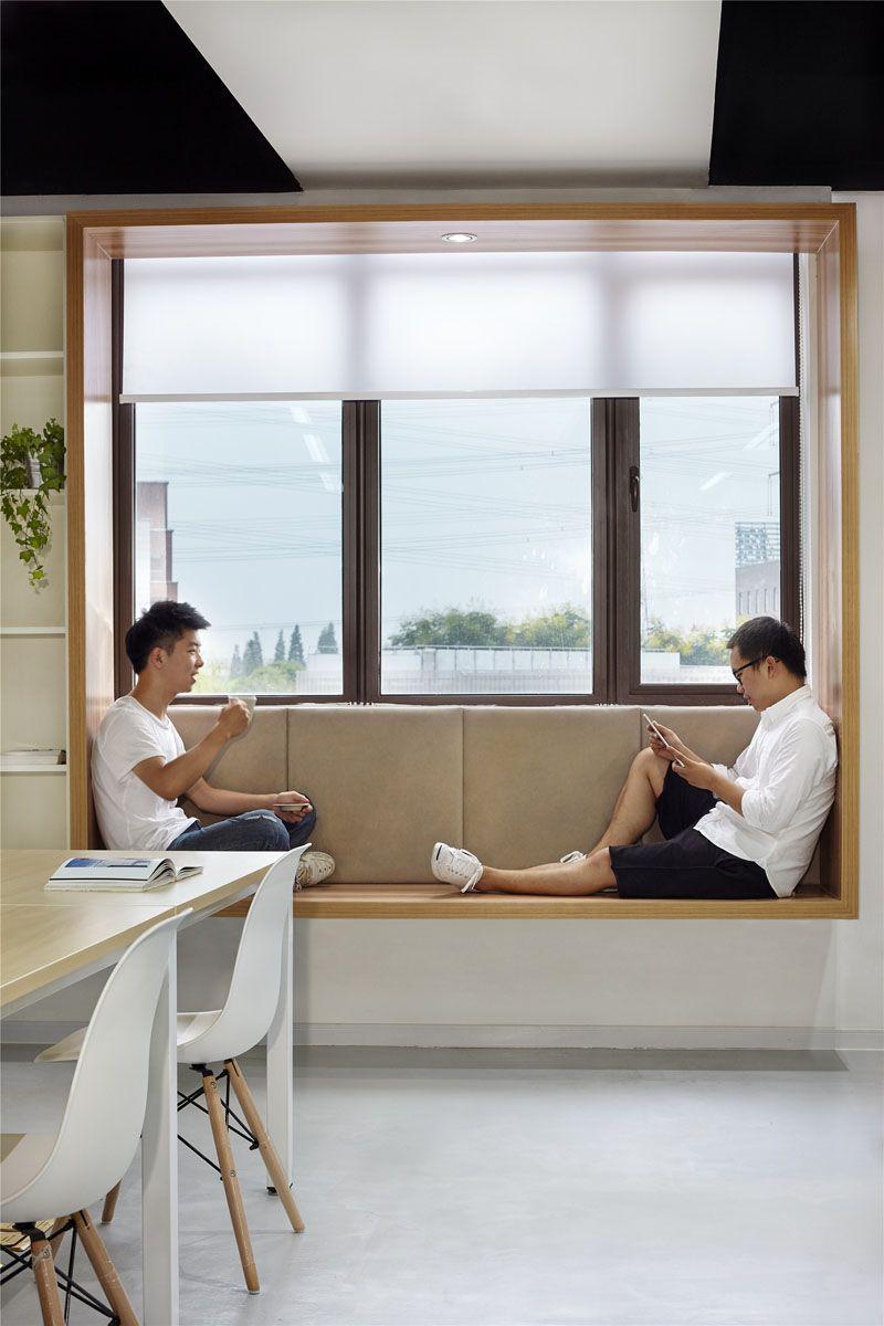 Modern Window Seat Idea - Add a suspended wood surround to standard ...