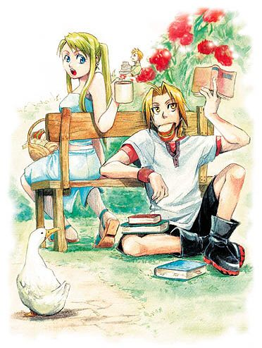 seems like such a typical scene between these two:) edward and winry